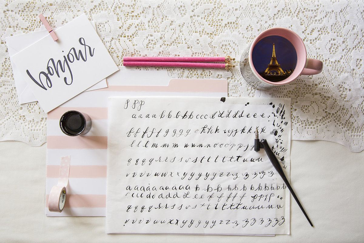 paris calligraphy letters