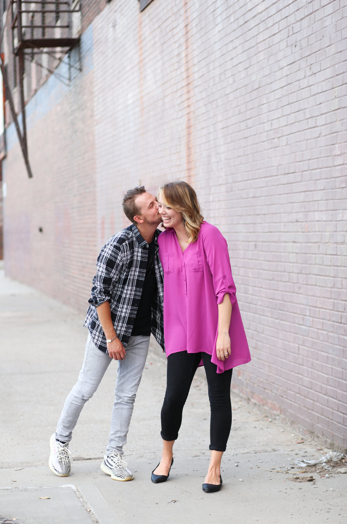 Love Kansas CIty West Bottoms Engagement Kansas City Overland Park Engagement Photographer - E Session - Engagement - Engaged - Engagement Ring