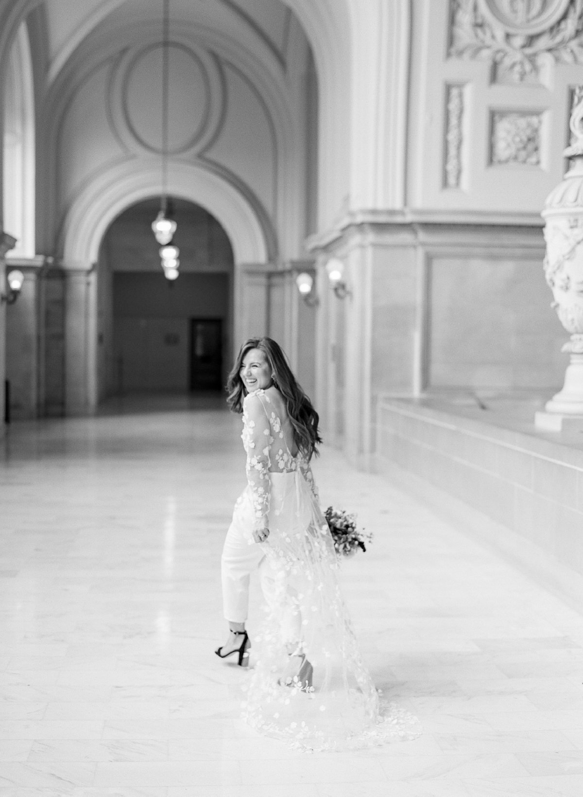 San Francisco City Hall Wedding with Jumpsuit-8