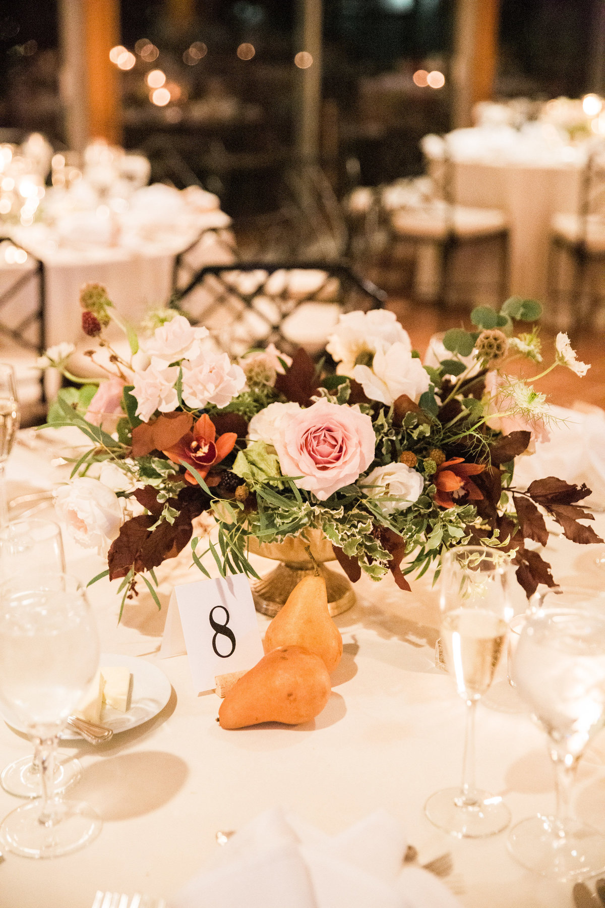 centerpiece Winterthur wedding florist