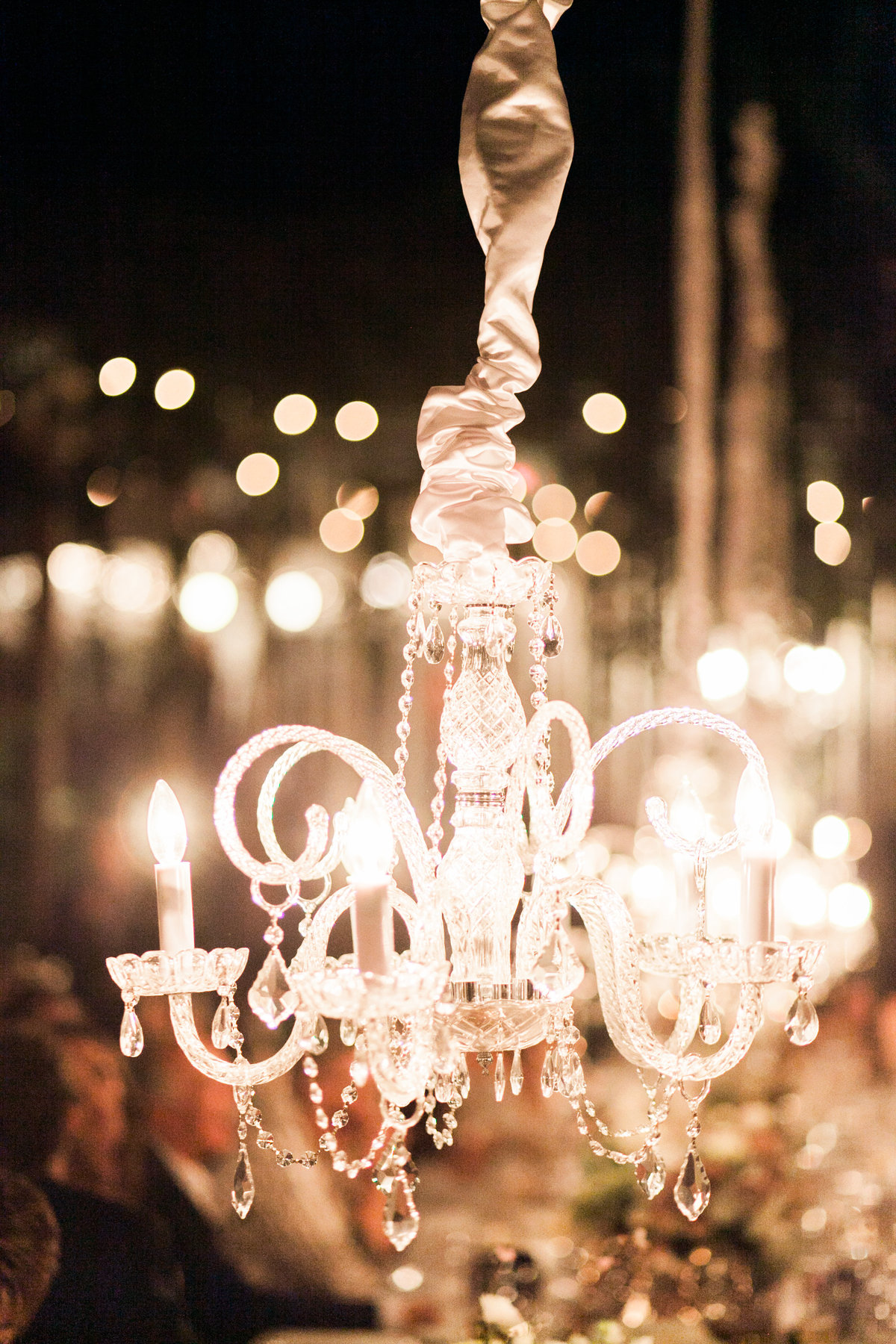 Crystal Chandelier Outdoor Wedding Decor