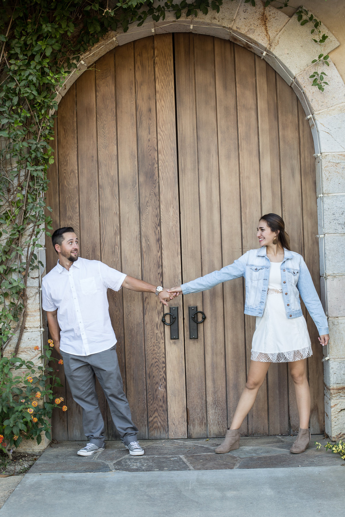 wine country engagement shoot