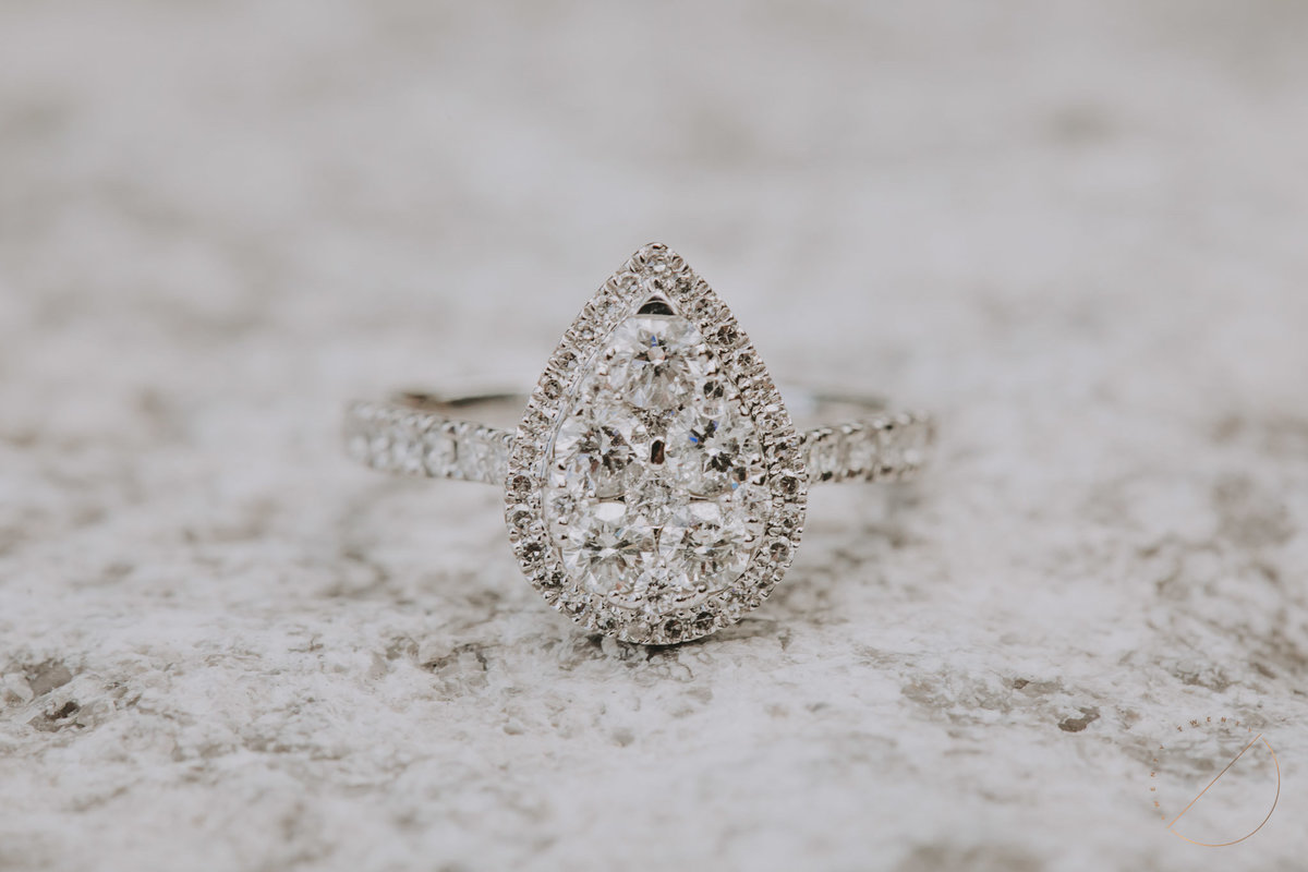 Macro shot of a beautiful engagement ring by Twenty Twenty Photography