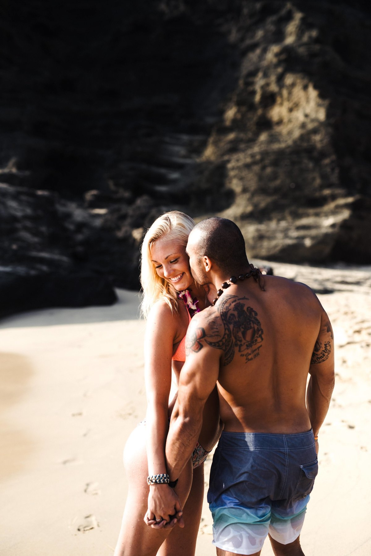 Eternity Beach Honolulu Hawaii Destination Engagement Session - 90