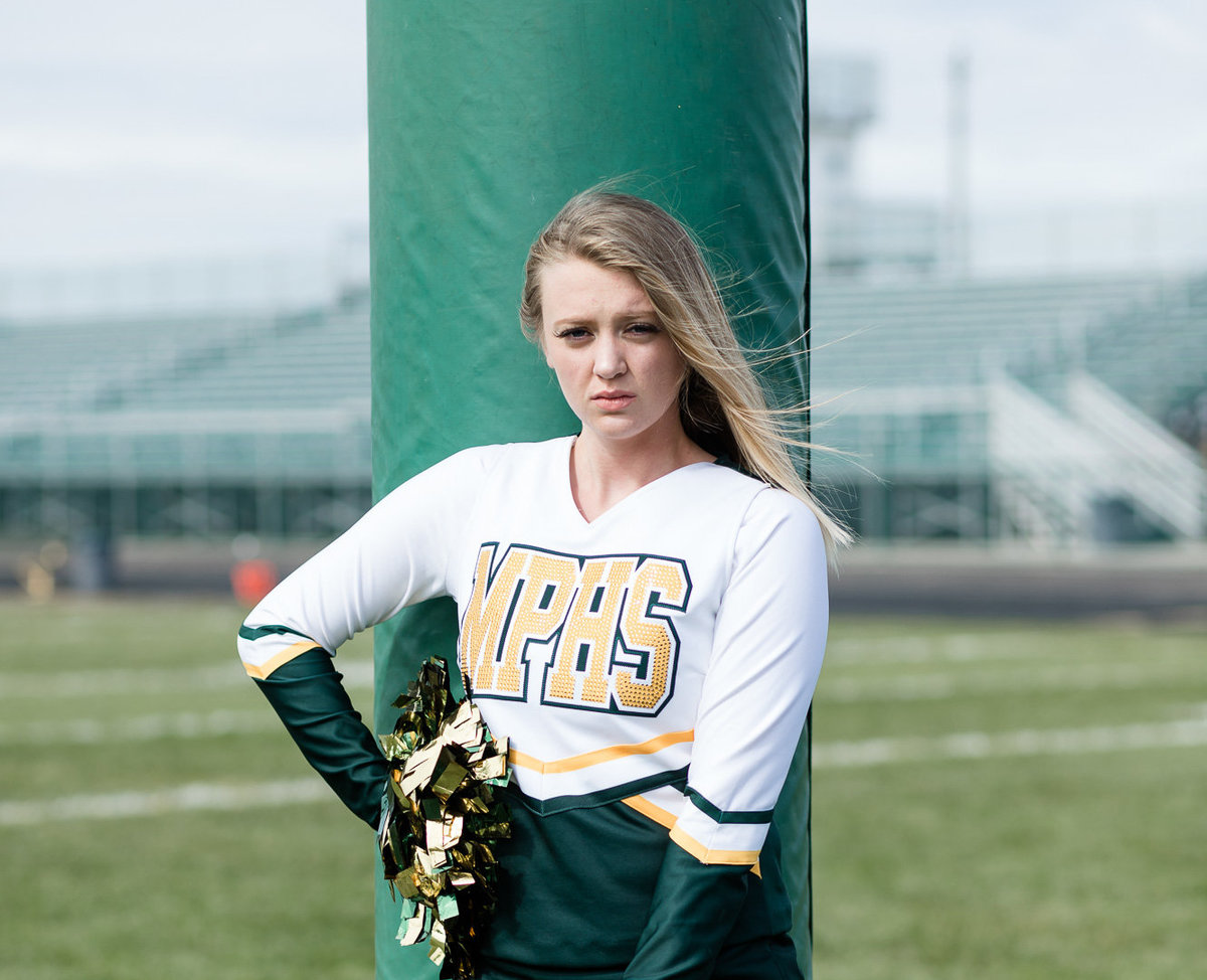 Cheerleader for a Senior Session