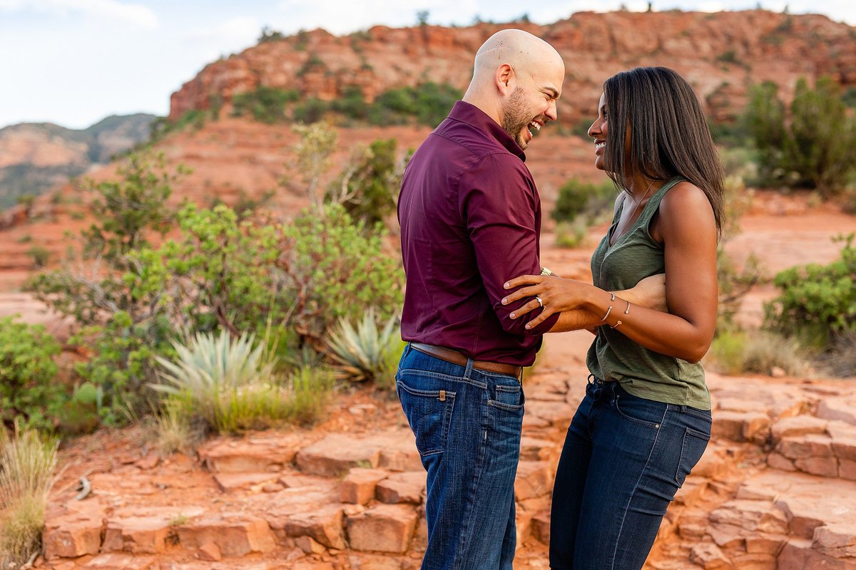 Monica + Austin - Sedona Engagement Session - Cathedral Rock - Lunabear Studios_0188