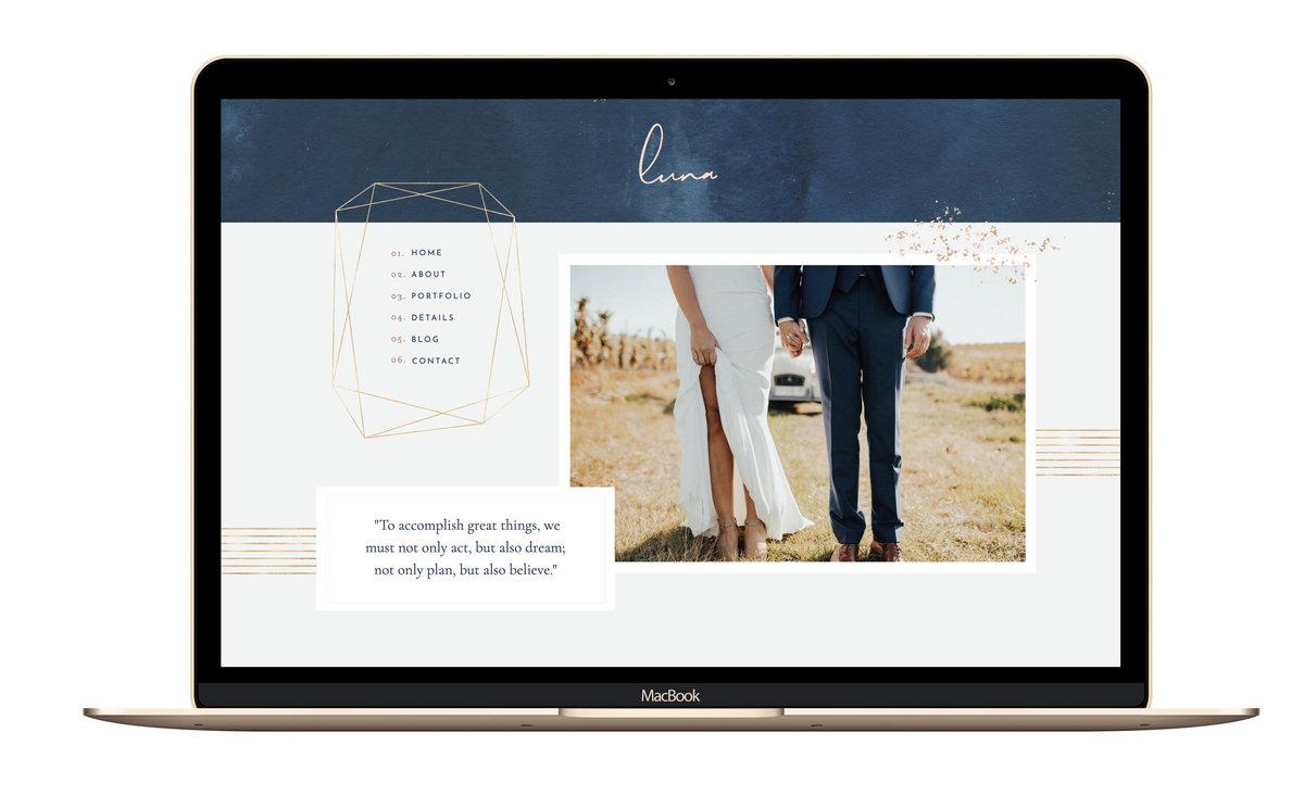 Luna Showit Website Template