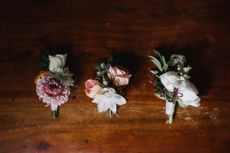 botanical boutonnieres, studio fleurette, hewing hotel wedding, urban wedding mn