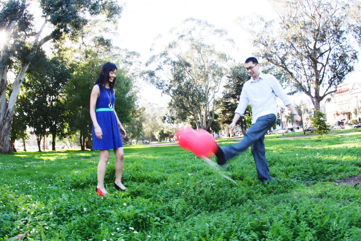 humorous engagement photos