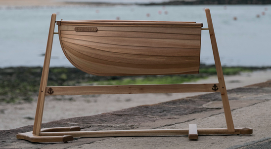Nautical Baby Cradle by Sam Rouse Furniture