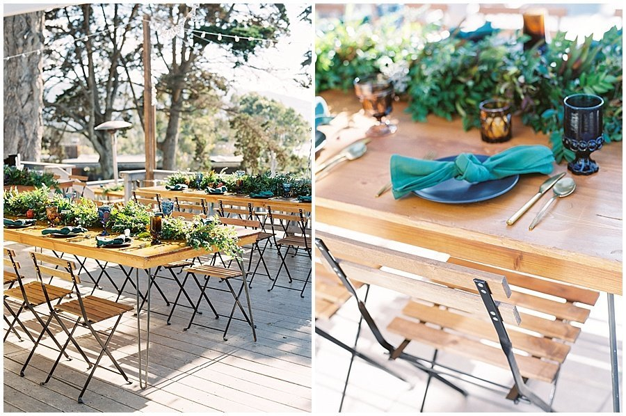 Simple decor outdoor wedding reception