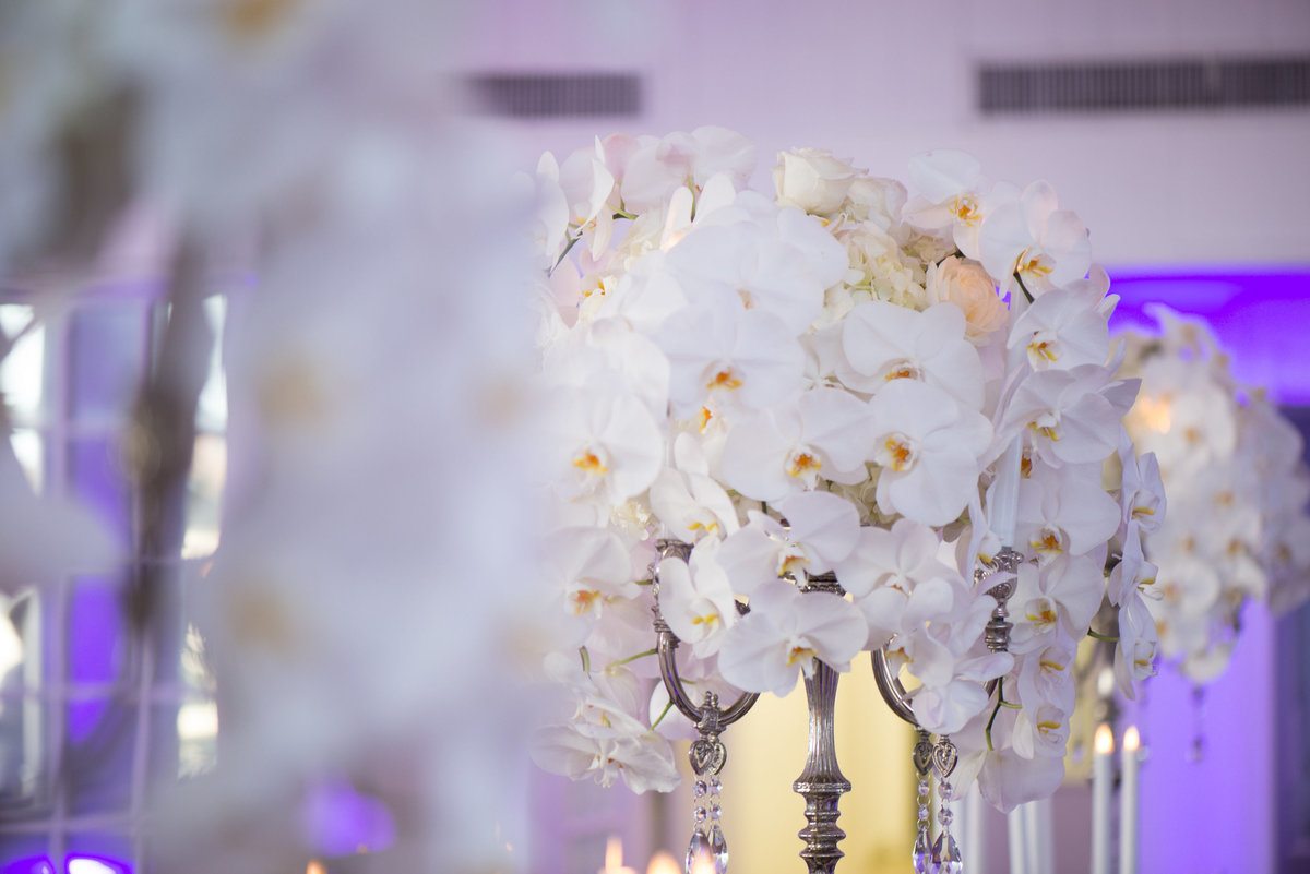 Orchid wedding centerpiece decor
