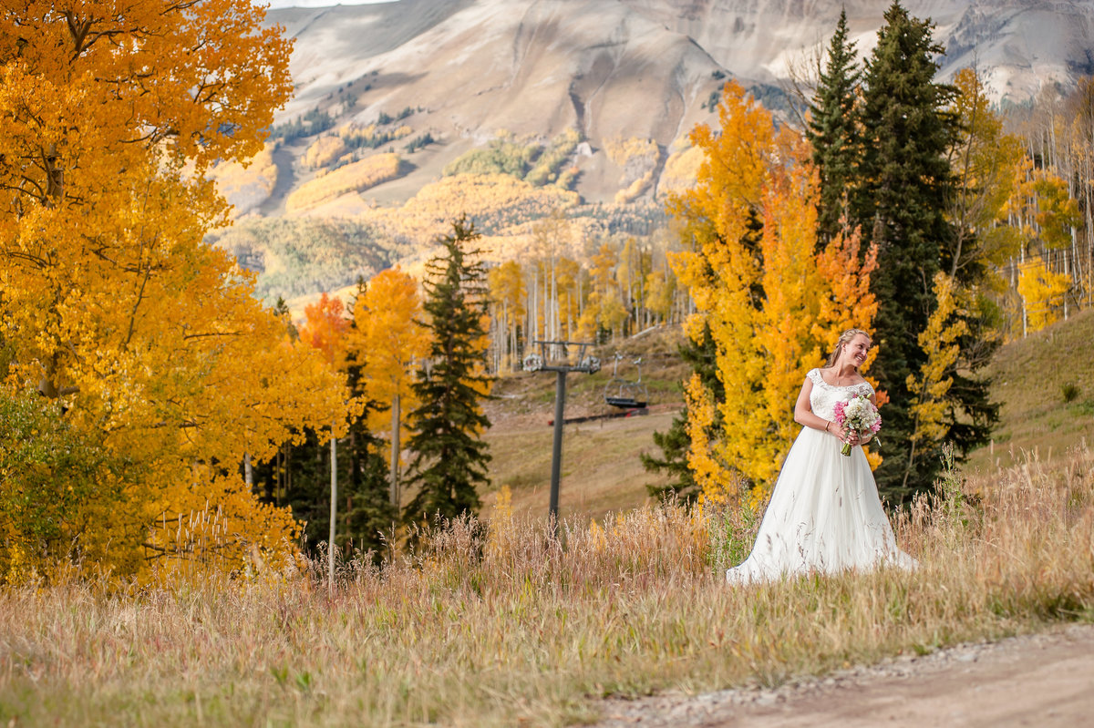 Telluride Wedding Gorrano Venue  Bride
