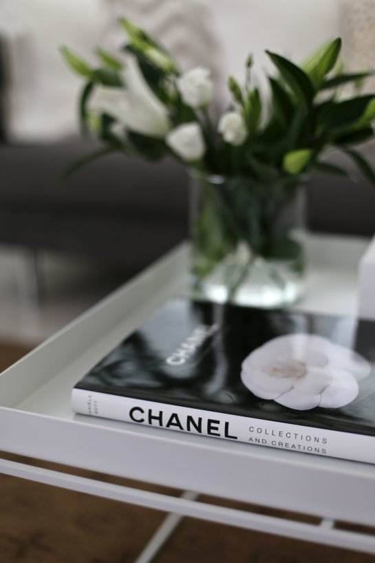 chanel book on table