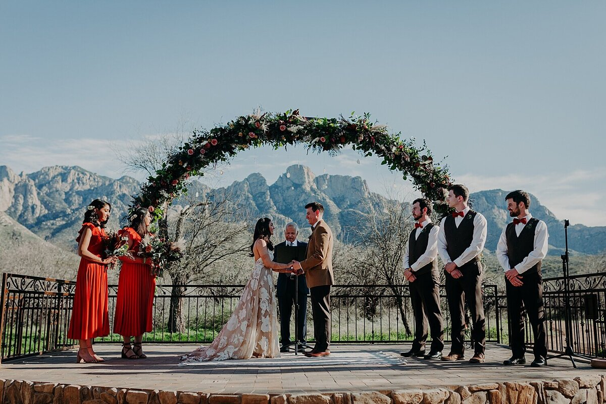 Italian and Indian wedding ceremony in the Catalina foothills in Tucson Arizona