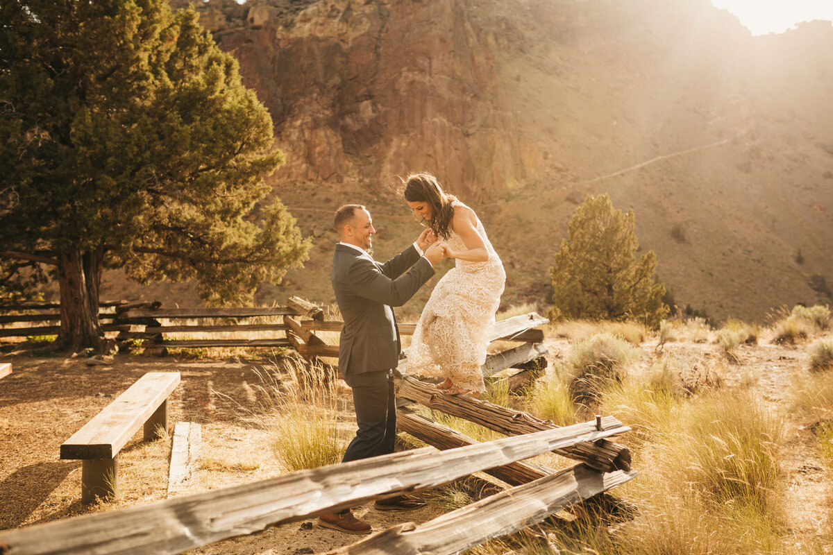 EMILY VANDEHEY PHOTOGRAPHY -- Corey + Kelly -- Elopement -- Smith Rock State Park -- Bend_ Oregon-340
