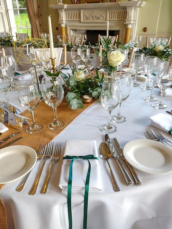 Green and gold foliage wedding 13
