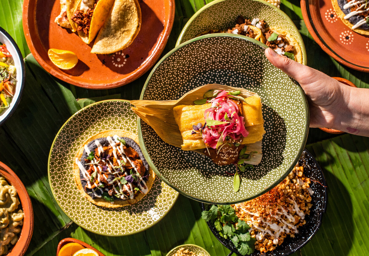 food photography for todo verde plant based latin american food in los angeles