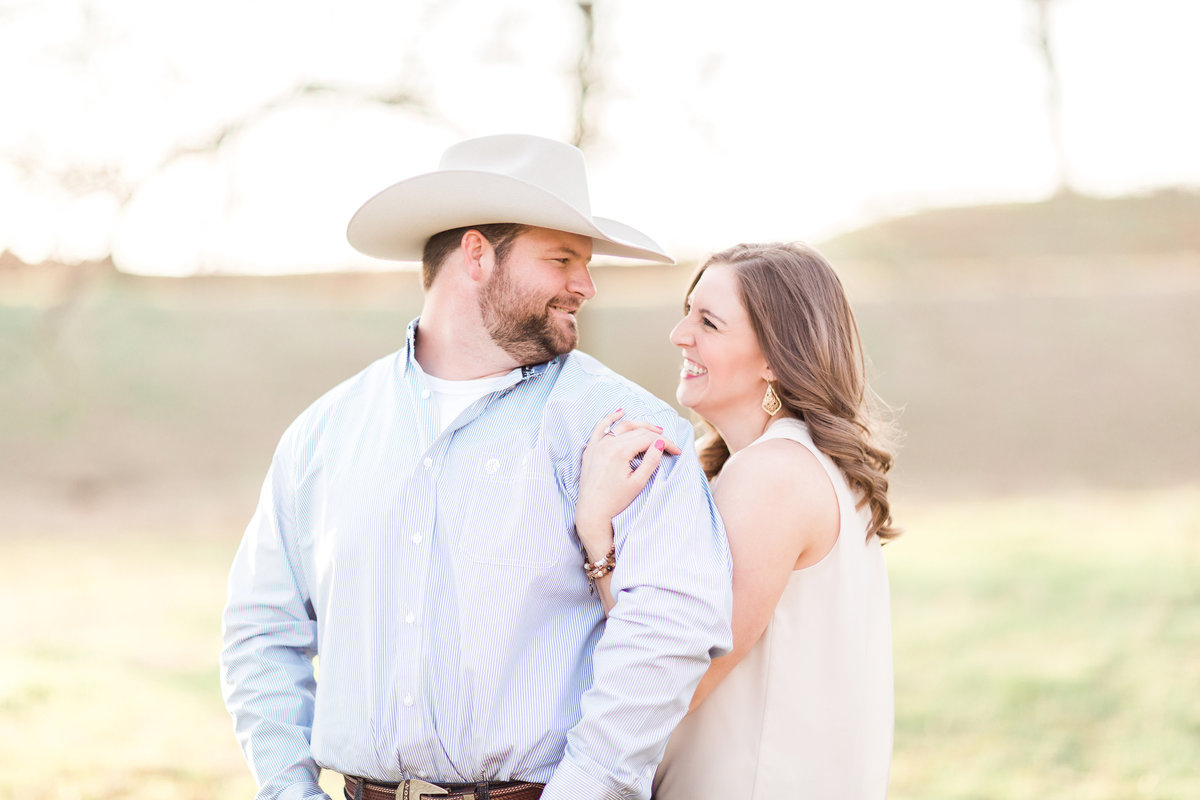 Washita Valley Sod Farm Ardmore Engagement Photographer