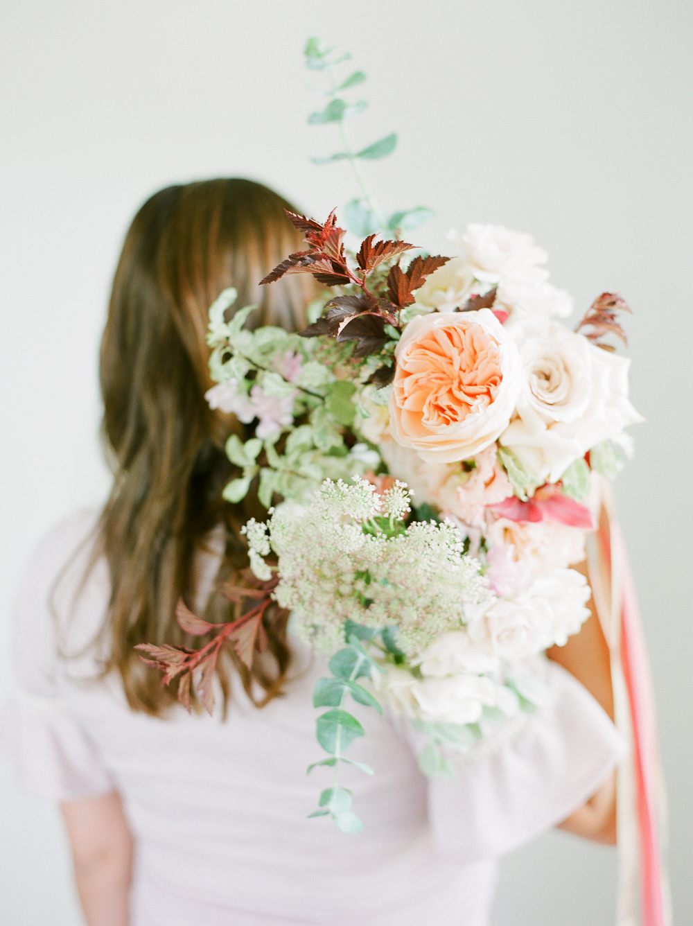 Burgundy and Blush Wedding Inspiration Styled Shoot by Kelly Sweet Photography Flowers