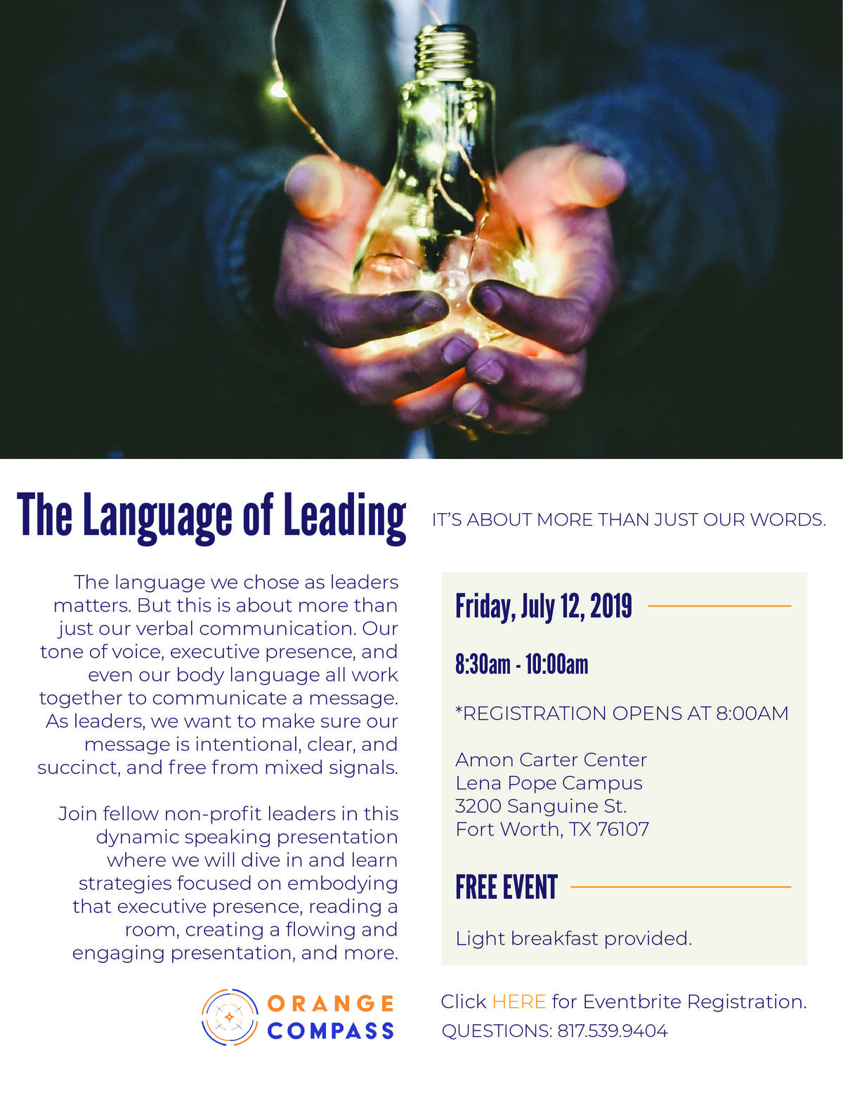 language of leading flyer