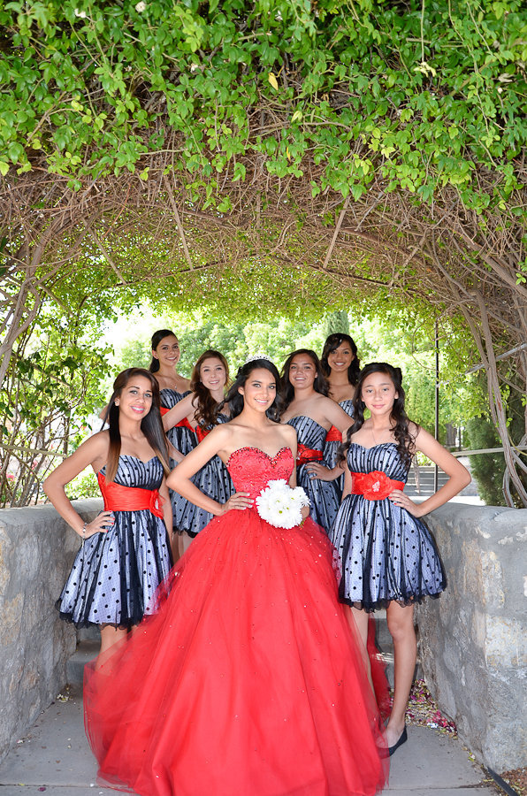 Quinceanera court with the girls