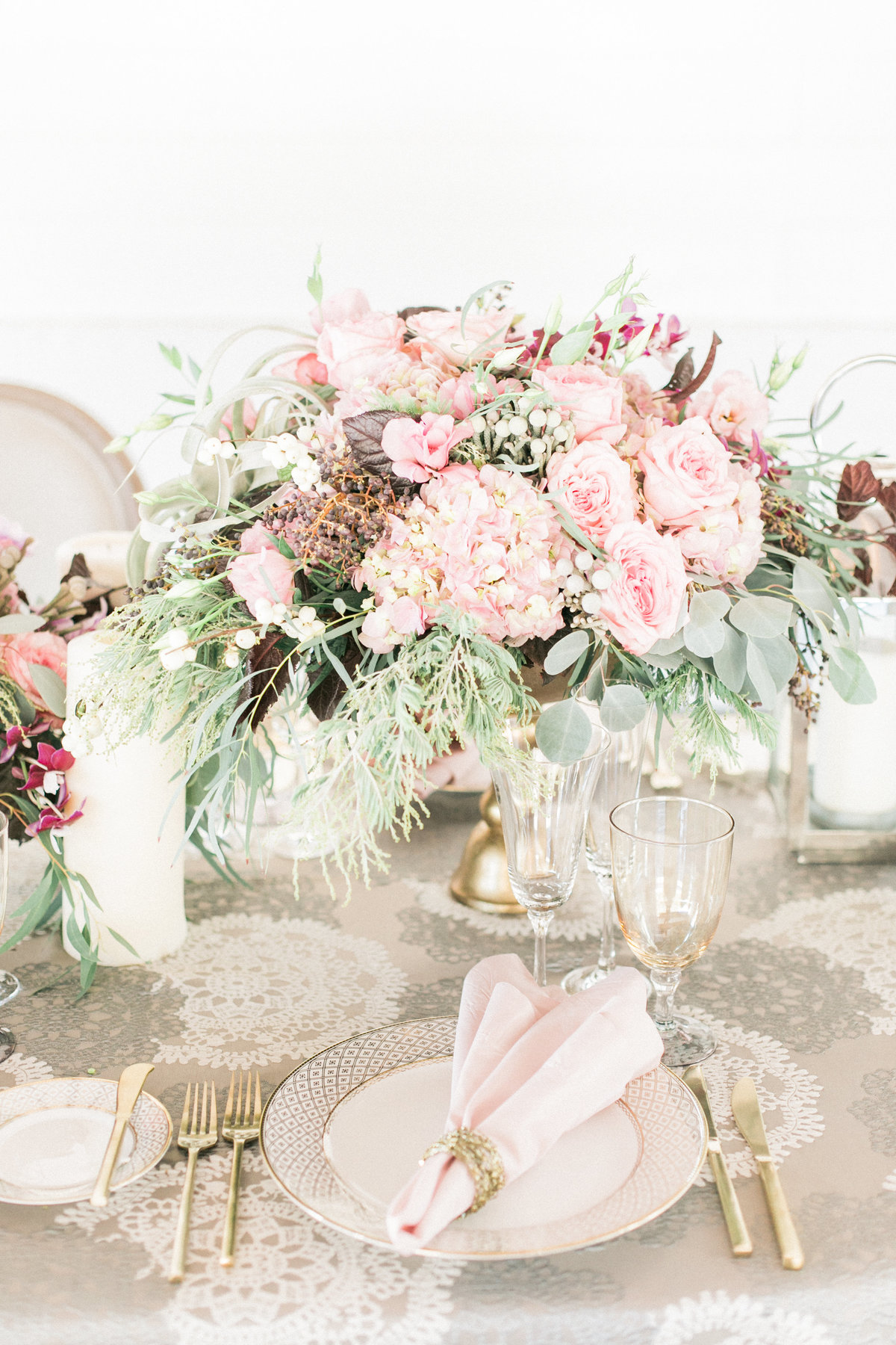 Spring Wedding Table Decor Photography