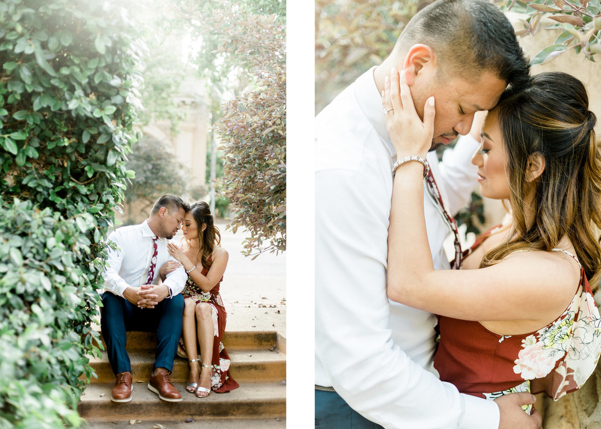 San Diego Balboa Park Engagement Photos