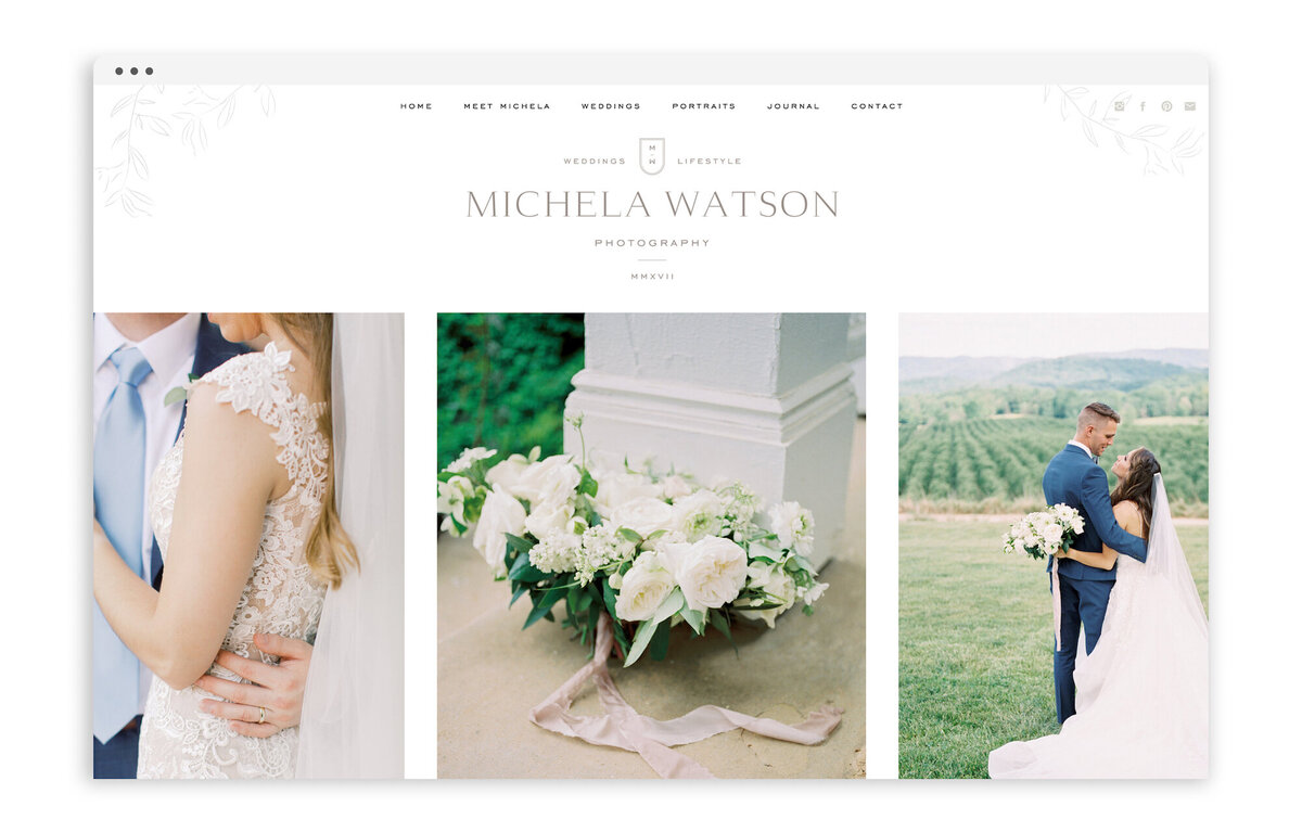 Michela Watson Photography - Custom Brand and Web Design for Fine Art Photographer - With Grace and Gold - Best Showit Website Designer - 15