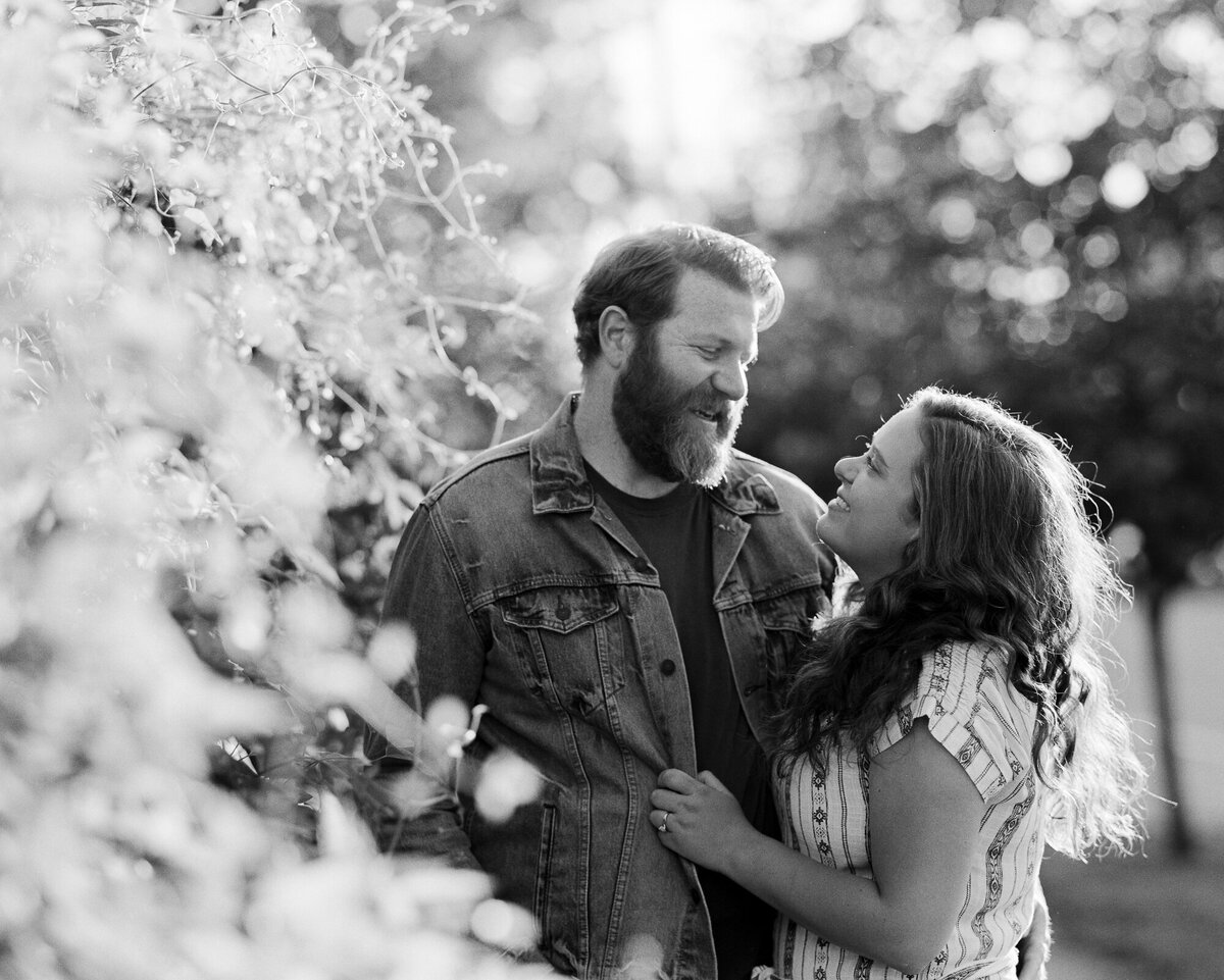 Film photograph of couple during their engagement session