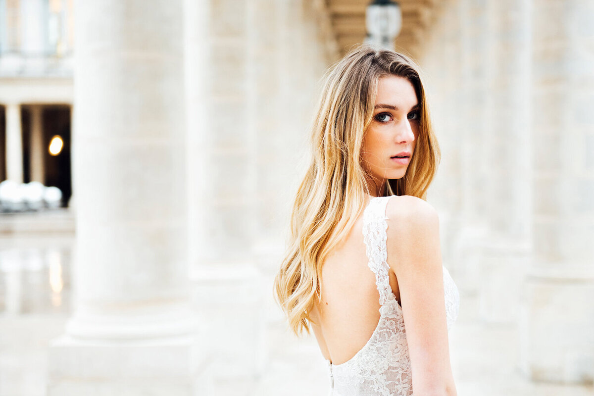 Katie Mitchell, Monique Lhuillier Bridal Paris France Wedding Trine Juel Hair and makeup 21