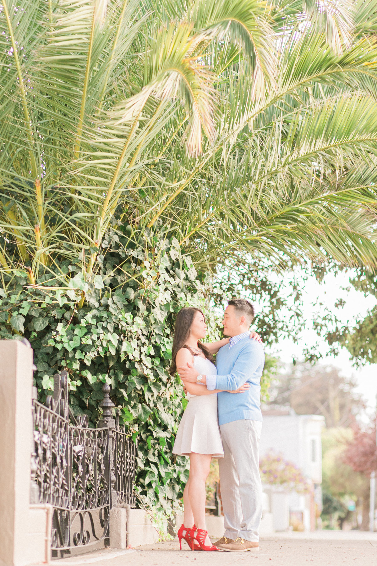 California Palm Trees Engagement Session