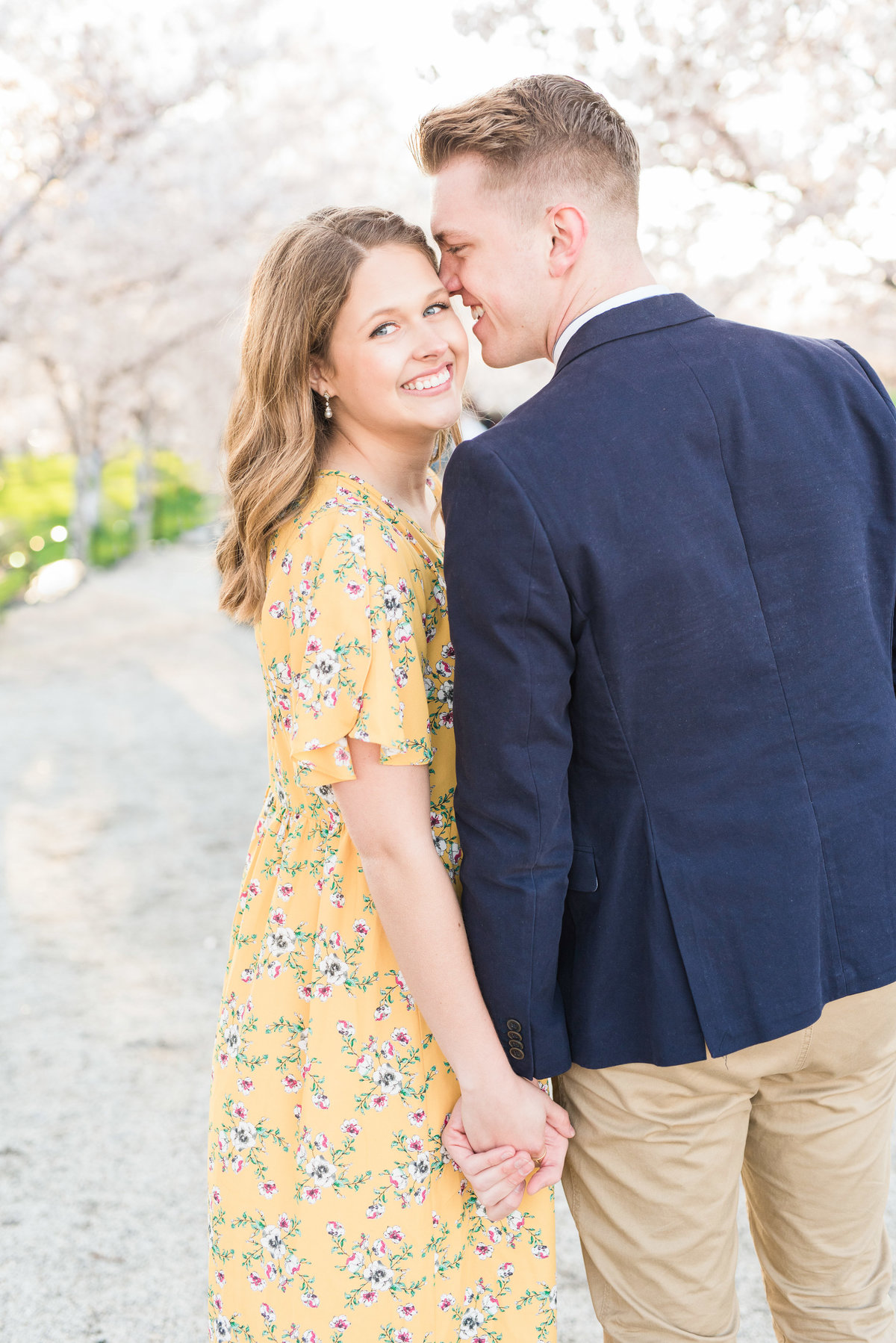 Spring Blossom Engagement at the Utah State Capitol_001