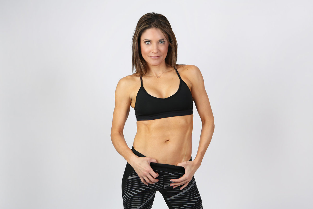 Simple White Backdrop Fitness Photos