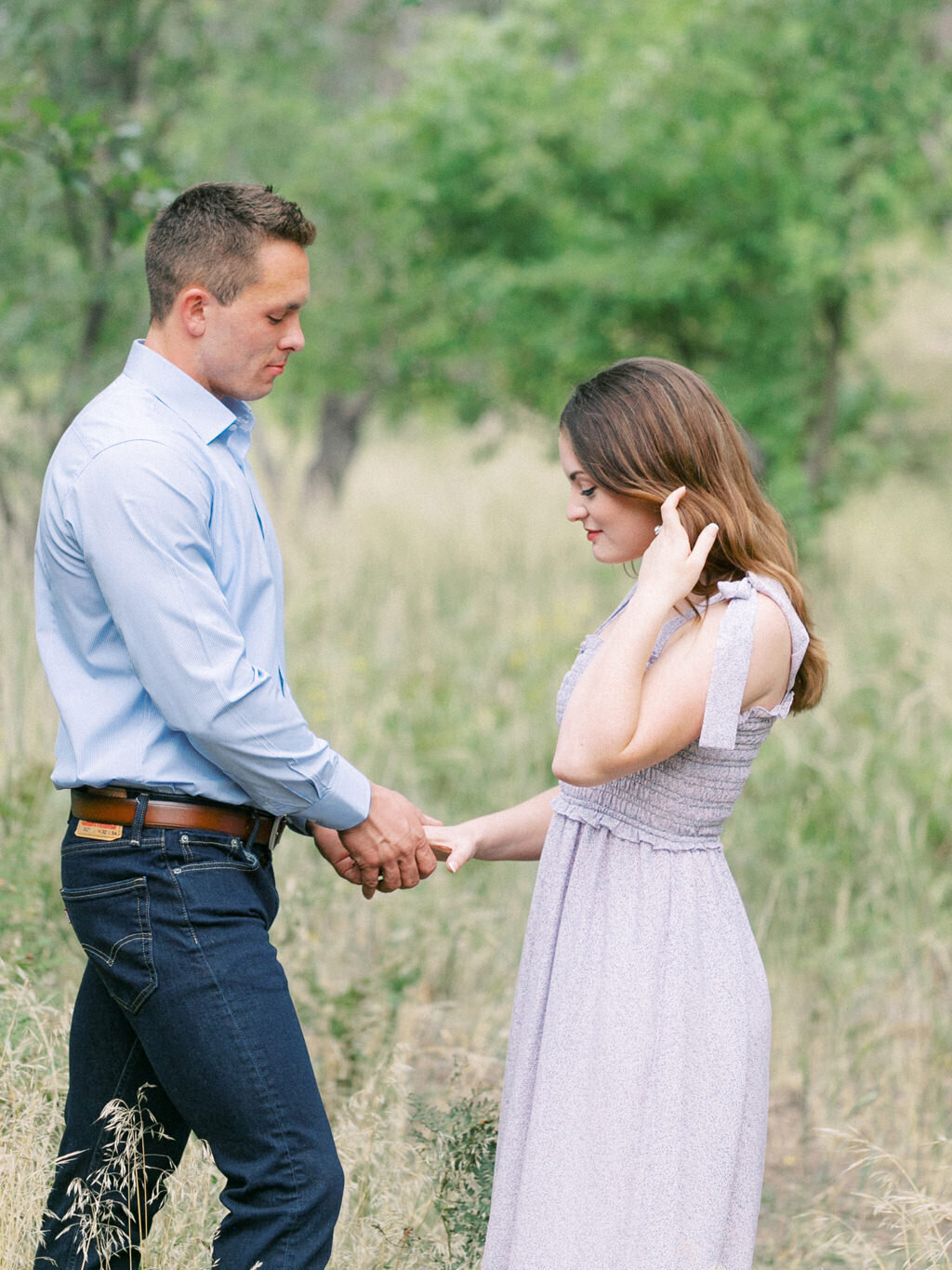 Aubrey & Joey Sedona West Fork Trail Fall Fine Art Engagement Session Ball Photo Co-18