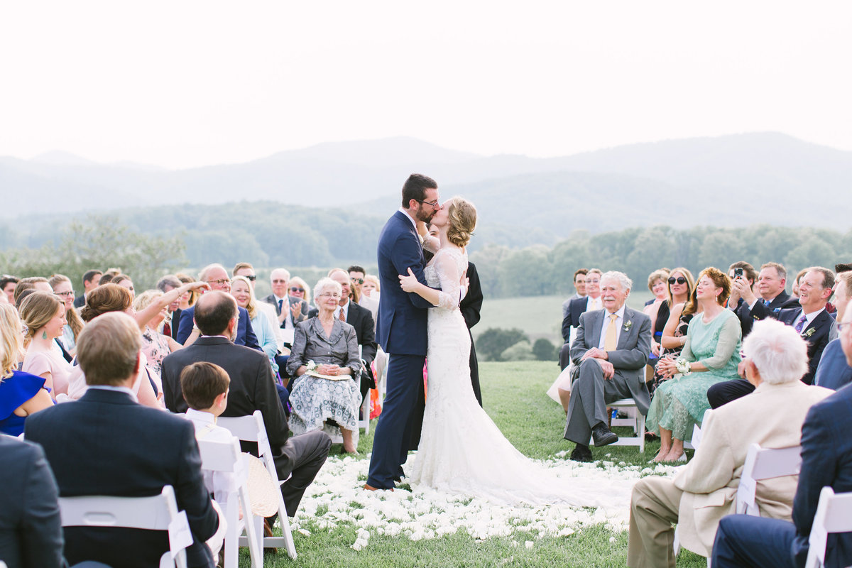 Wedding Ceremony at Pippin Hill Farm in Charlotesville, Virginia