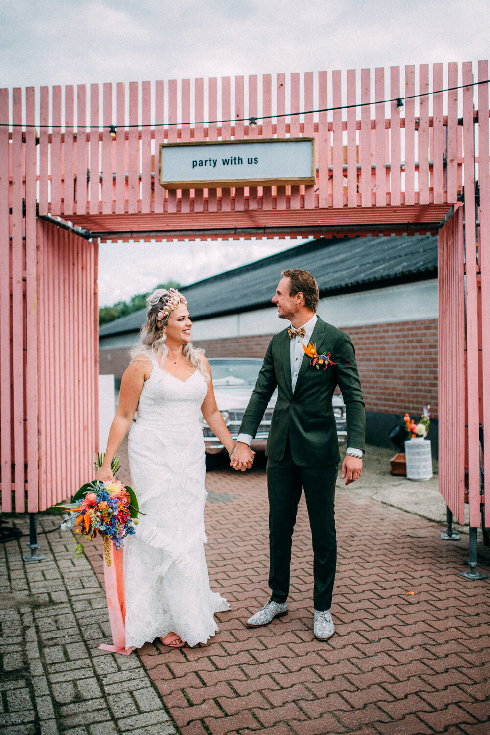 Bruiloft Marlous & Michael - Pink Wedding - Te Leuk Trouwen- Romy Dermout Photography-351
