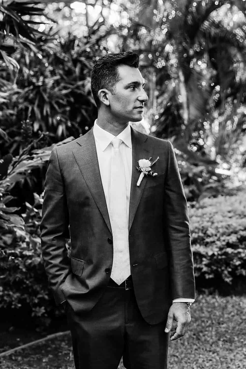 Maui portrait of groom on this wedding day