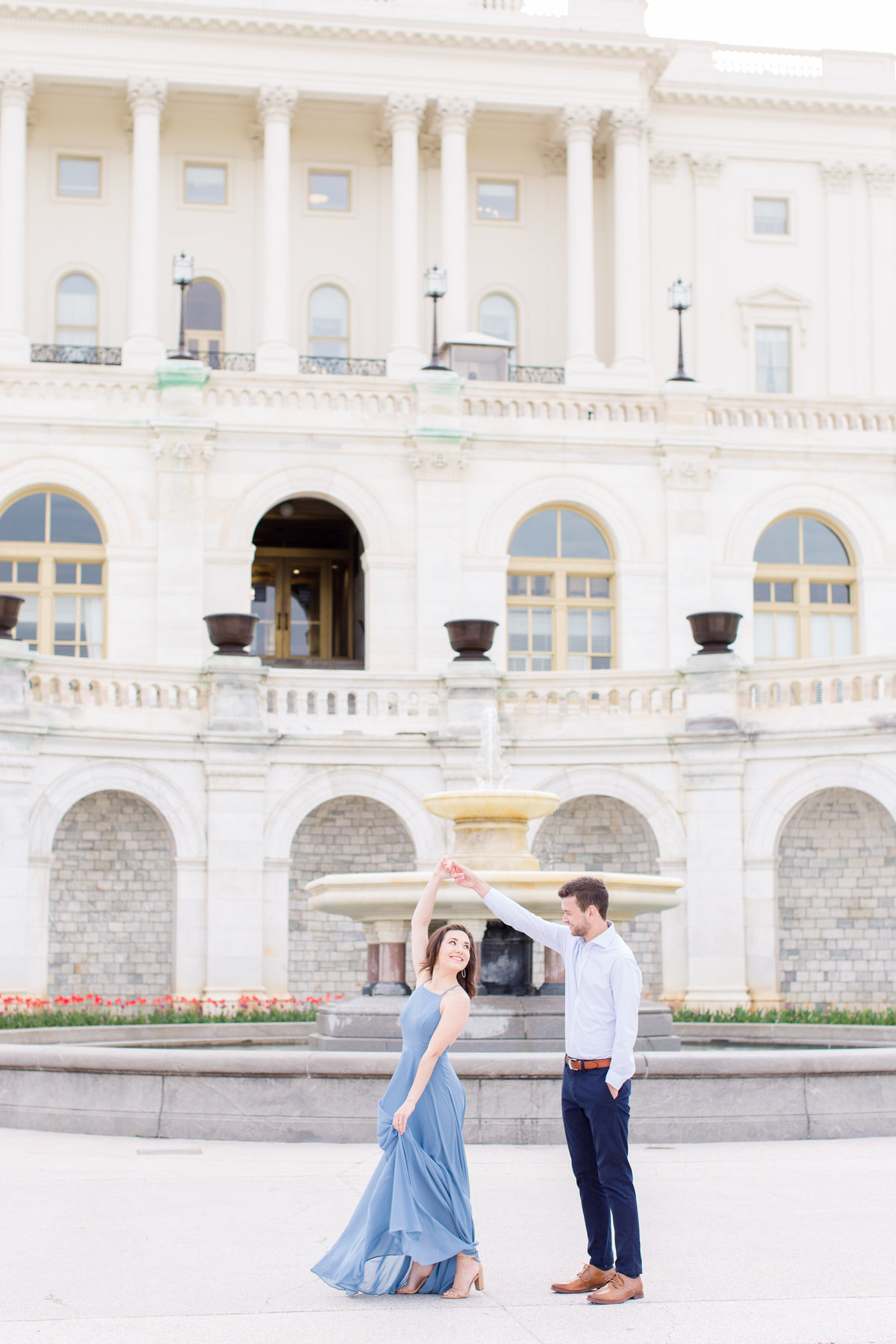 Capitol Building Engagement Session in DC with a visit to Supreme Court Building and Library of Congress | DC Wedding Photographer | Taylor Rose Photography-95