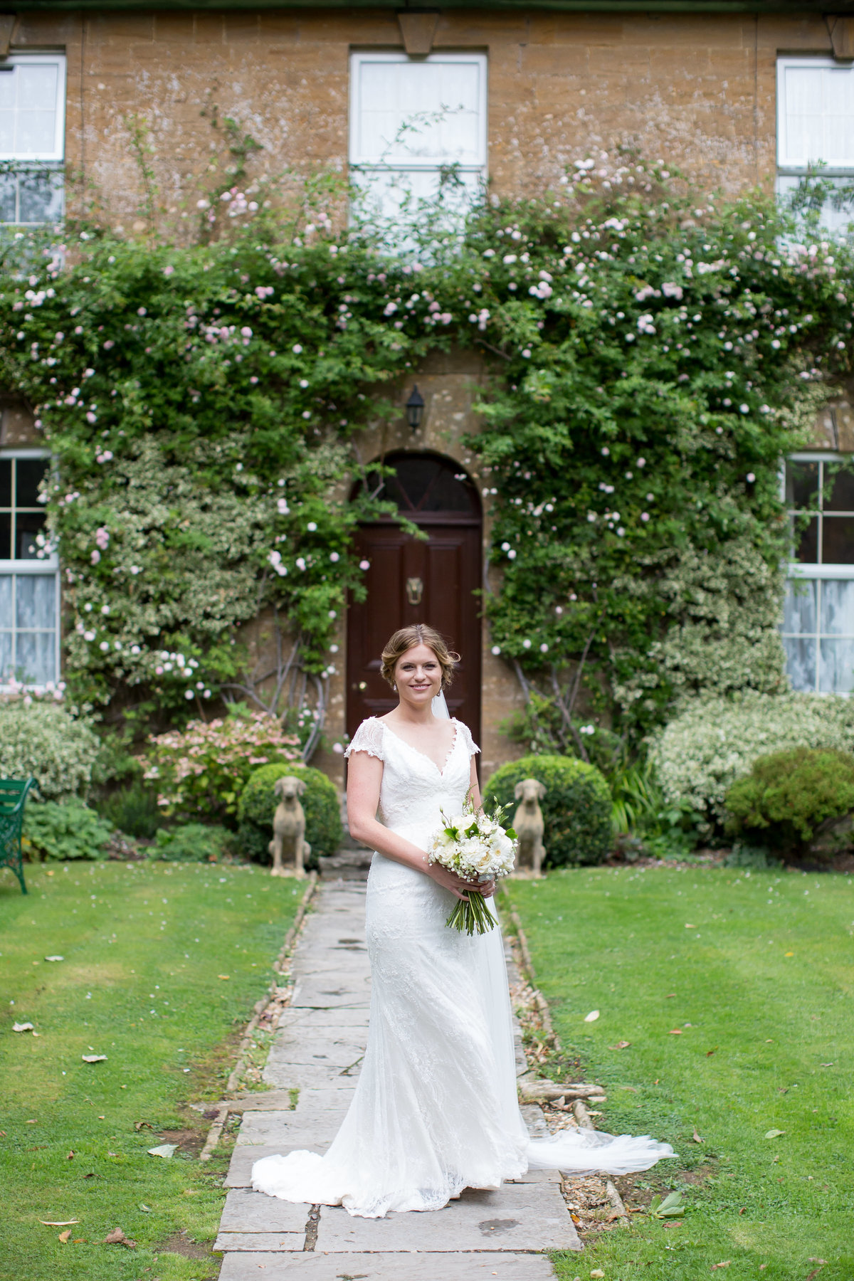 bride at haselbury mill somerset