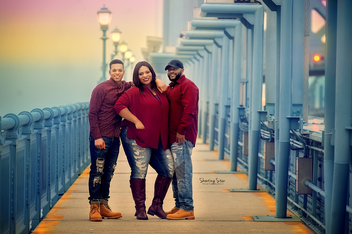 ben franklin bridge family session in south jersey