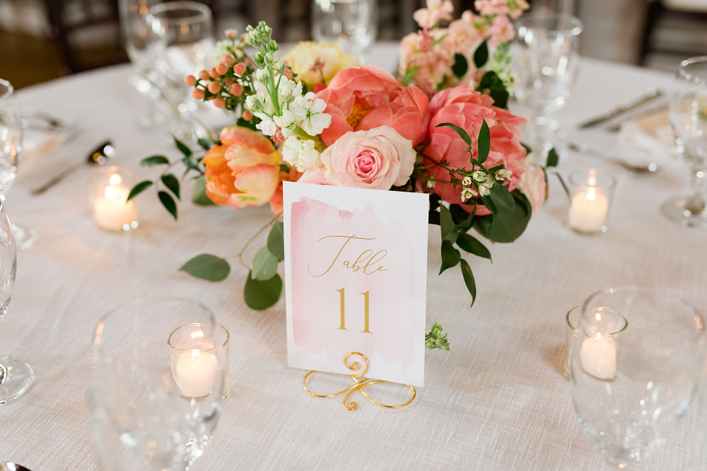 Detroit Yaght Club Wedding With Laura And John Table Numbers