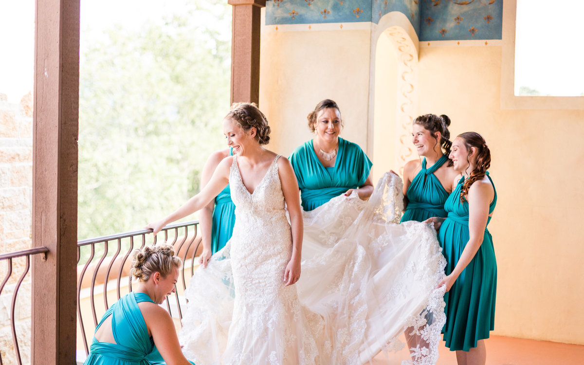 Purple & Teal Villa Nove Vineyards Summer Wedding-127