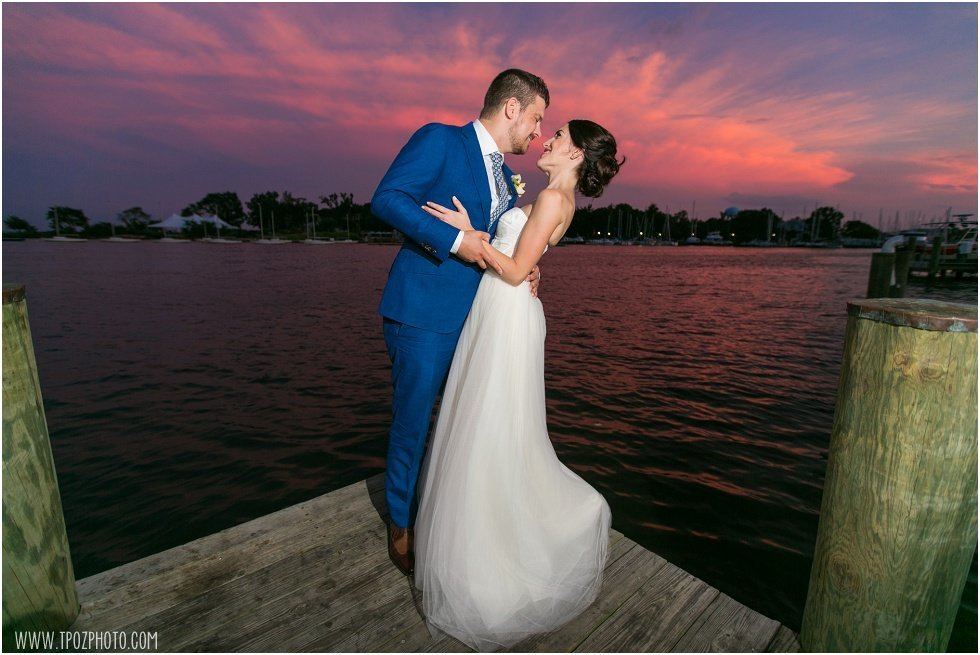 Sunset photos Annapolis Maritime Museum Wedding
