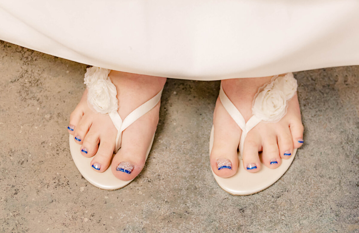 Wilmington NC Wedding Photography - Tonya and Ben - Bridal Shoes - Marriage Photographer Team