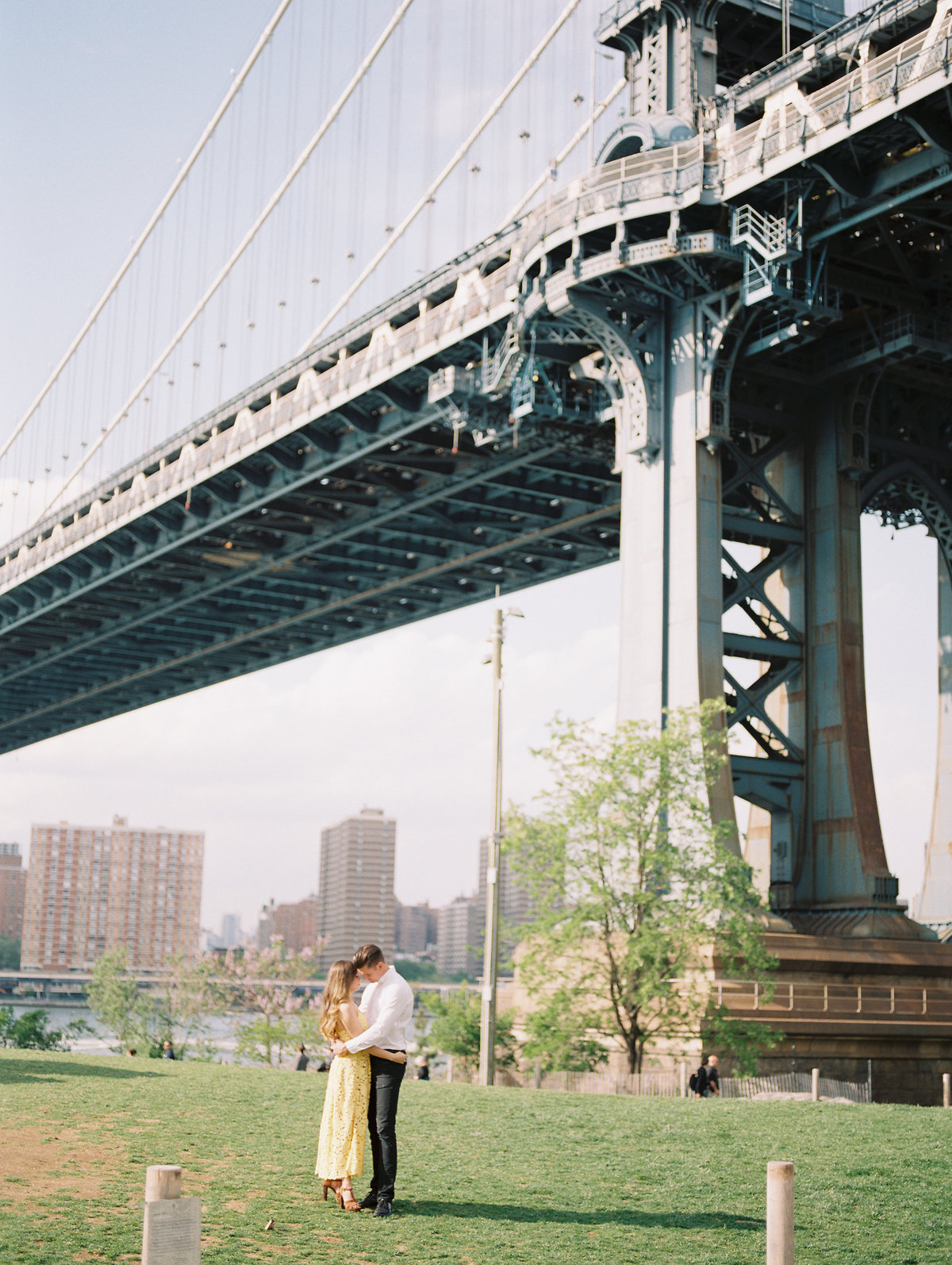 Engagement Session in New York DUMBO film photography
