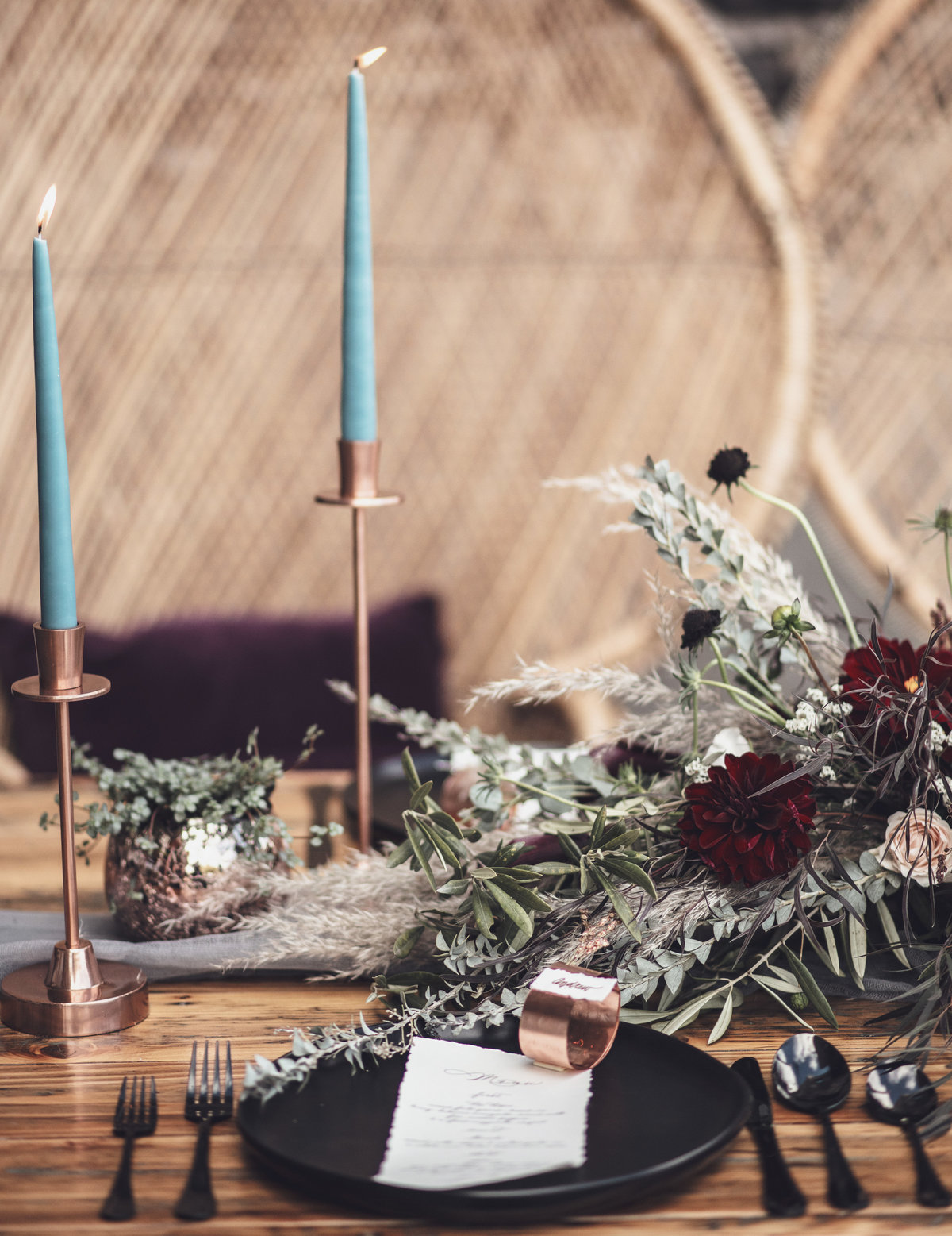 Modern Edgy Boho Wedding Table Inspiration - Rochester NY - Verve Event Co (5)
