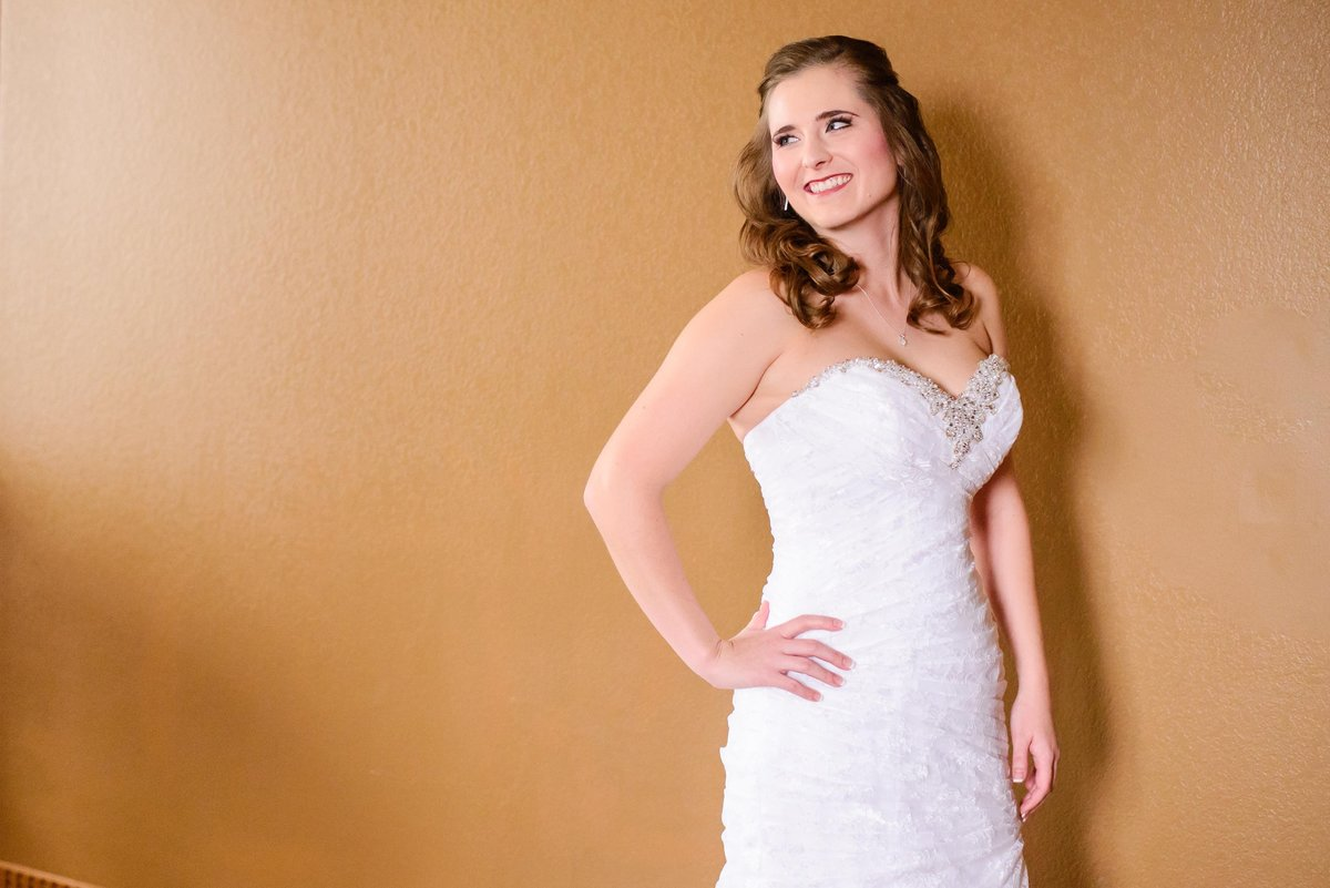 Birdal portraits for a Winter Wedding in St. Louis Missouri with a classic bride