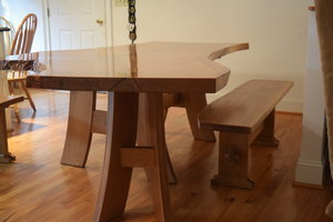 Oak Bench and Table by Sam Rouse Furniture