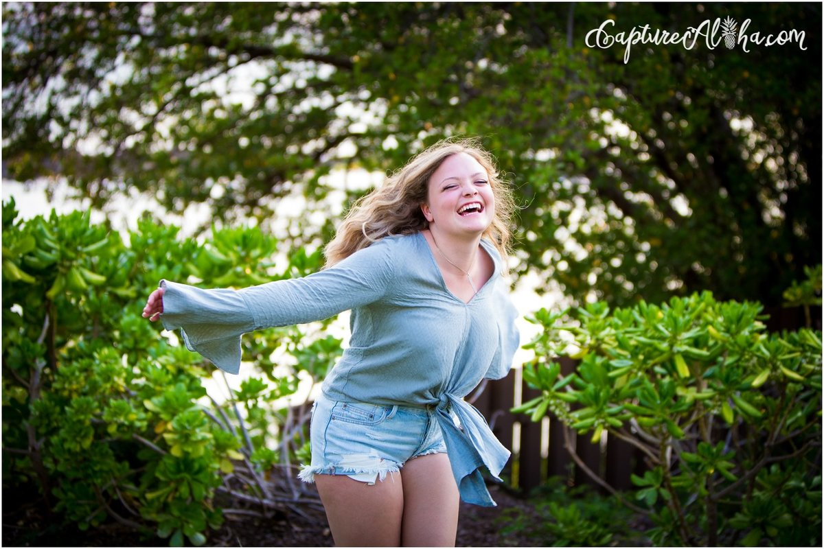 Capture Aloha Photography, Maui Senior Portrait Photography Enjoying the view of nature